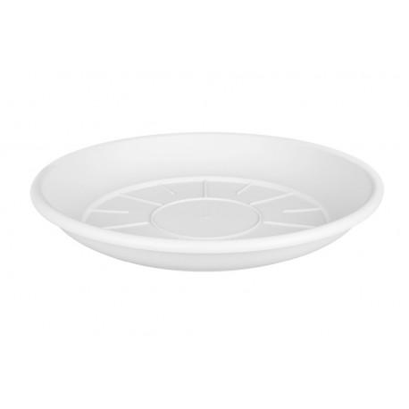 saucer round 27cm white