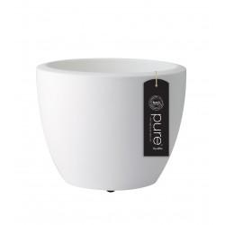 elho vaso pure soft round con rotelle 40 bianco