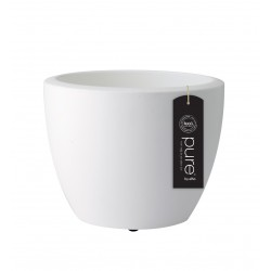 elho vaso pure soft round con rotelle 50 bianco