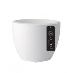elho vaso pure soft round con rotelle 60 bianco