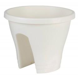elho vaso per ringhiera corsica 30cm bianco