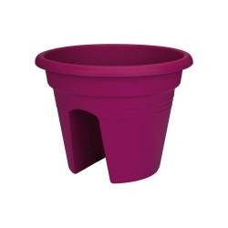 elho vaso per ringhiera green basics 30cm ciliegia