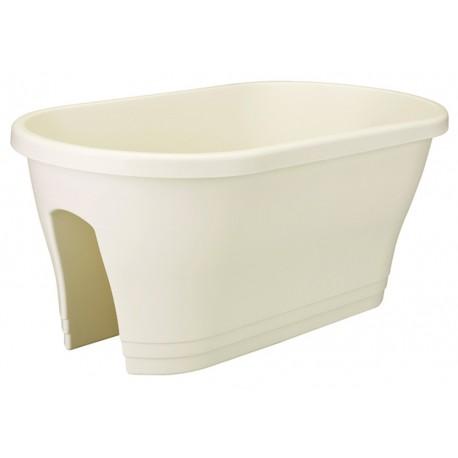 elho vaso per ringhiera corsica 60cm bianco
