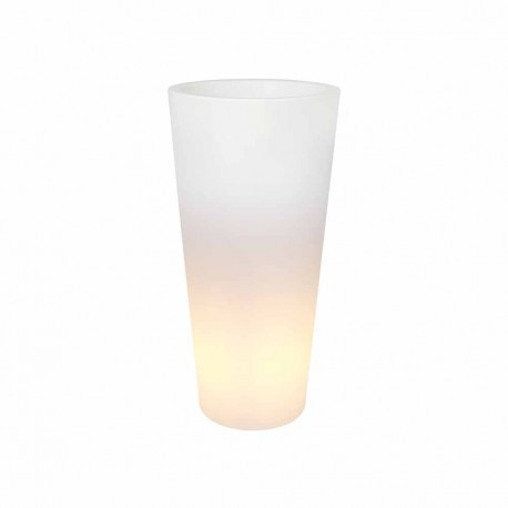 elho vaso con luce pure straight high LED light 40 trasparente