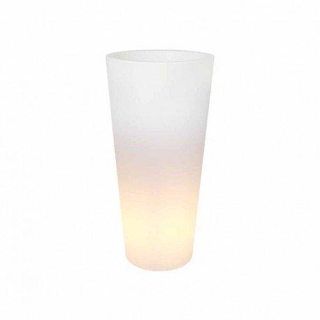 elho vaso con luce pure straight high LED light 50 trasparente