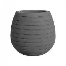 elho allure ribbon vase low 43 mineral clay