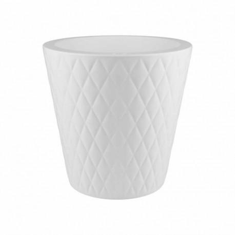 elho vaso pure straight crystal 47 bianco