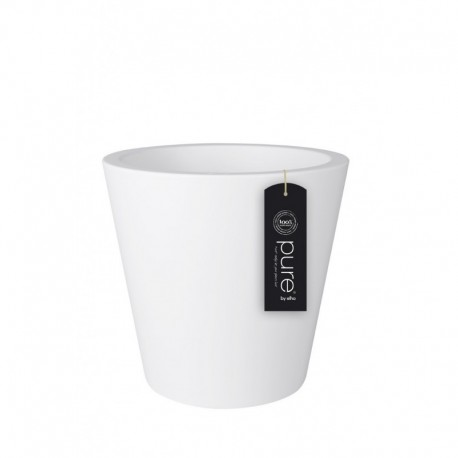 elho vaso pure straight round 80 bianco
