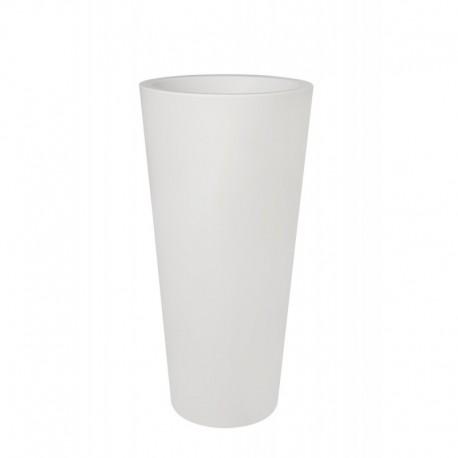 elho vaso pure straight round high 50 bianco