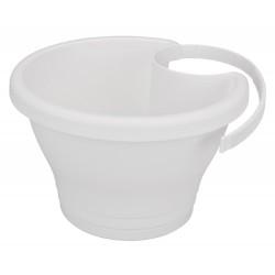 elho Vaso per grondaia corsica 24cm bianco