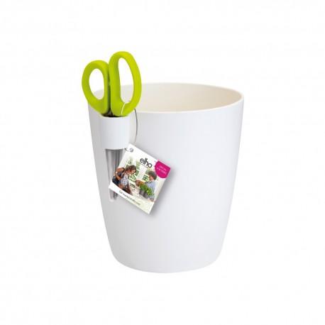 elho Coprivaso brussels per erbe aromatiche singolo large bianco